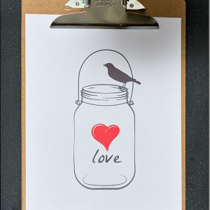 Mason Jar Printable for Valentine's Day