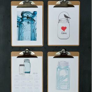 Mason Jar Art & A Free Printable