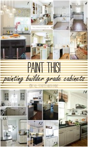 paint builder grade cabinets in kitchen white and gray grey