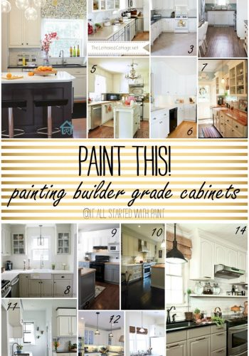 Paint This! Builder Grade Cabinets