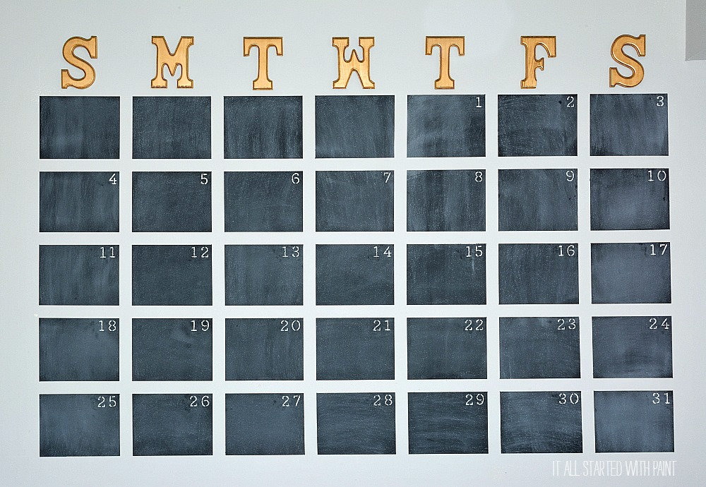 Diy Year Calendar : Chalkboard wall calendar diy it all started with paint