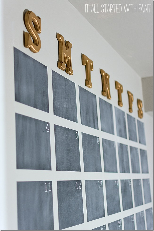 Diy Large Wall Calendar : Chalkboard wall calendar diy it all started with paint