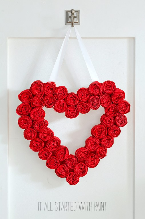 Valentine's Day Heart-Shaped Wreath