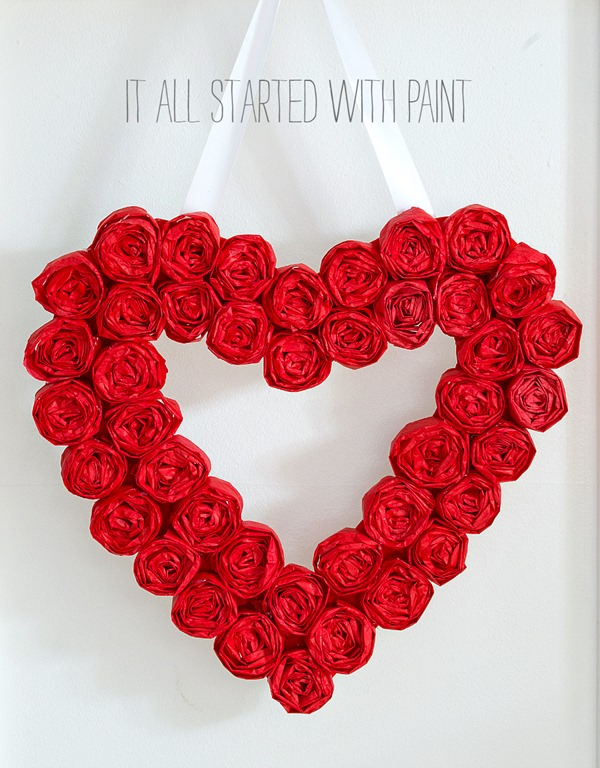 Valentine Wreath Craft Idea
