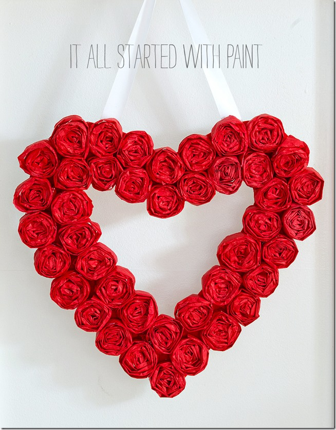Valentine Wreath - It All Started With Paint