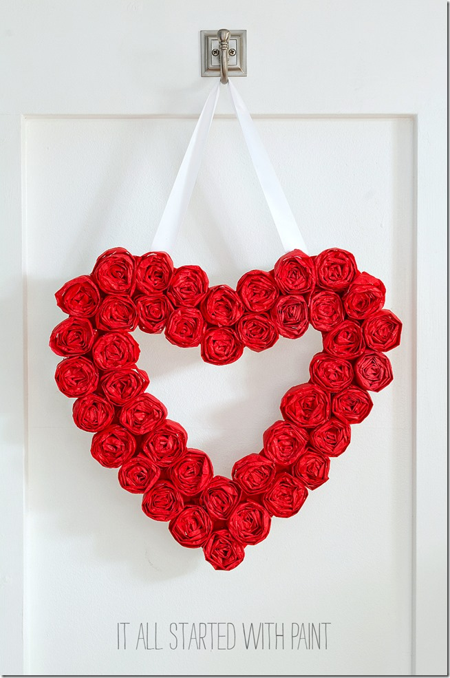 tissue-paper-rosette-valentine-day-wreath 3 2
