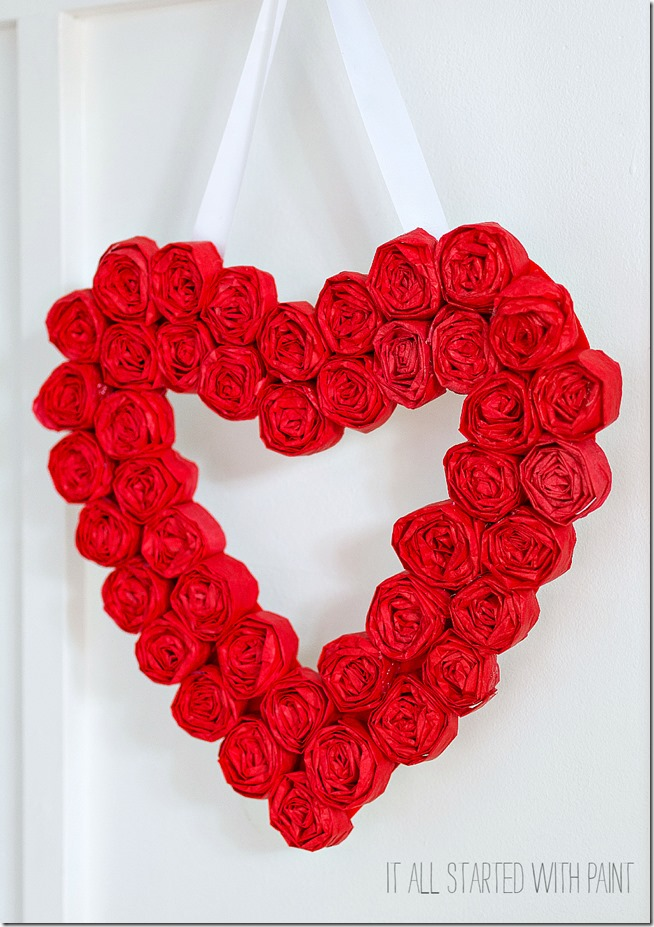 tissue-paper-rosette-valentine-day-wreath-5 2