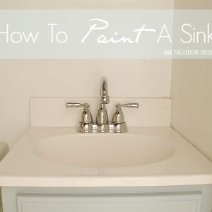 can i paint my sink