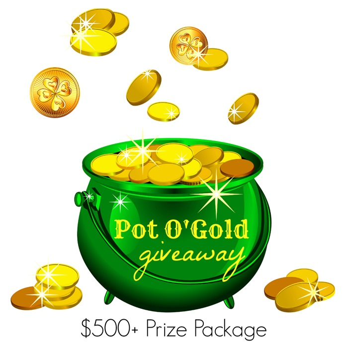 "Test your luck in March and you could win this ""Pot o' Gold Giveaway"" (valued at more than $500) on St. Patrick's Day!"