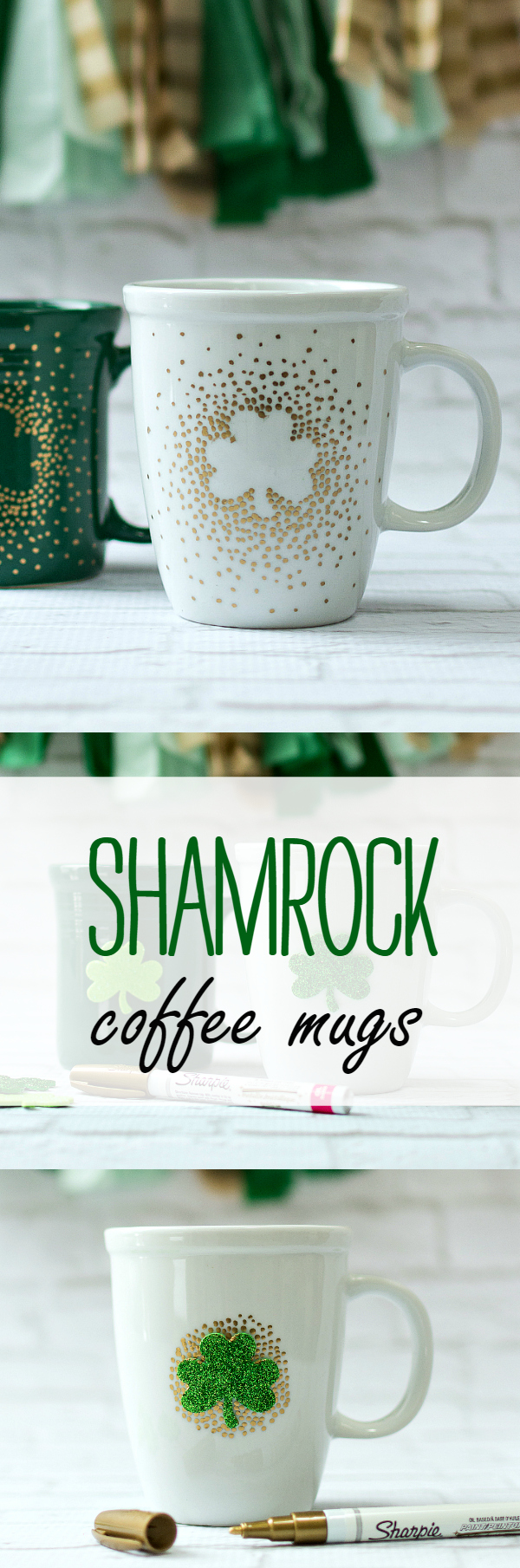 St Patrick's Day Craft Idea: Shamrock Coffee Mug DIY