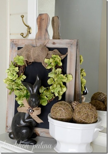 spring decorating wreath from dandelion patina