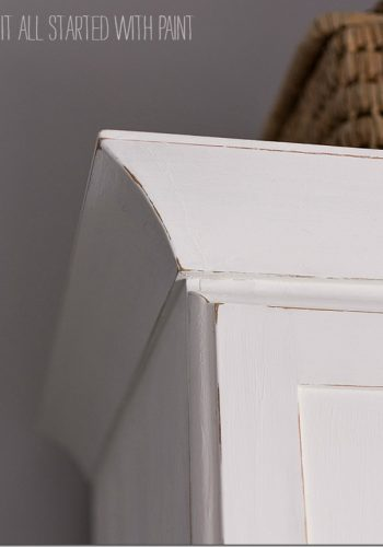 White Painted Armoire