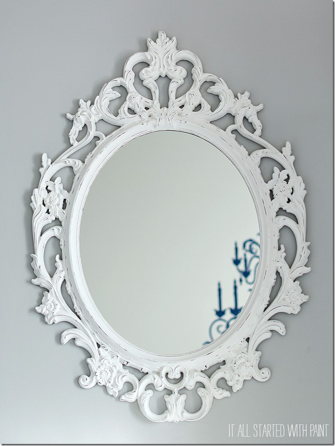 Ikea mirror for Fancy white mirror