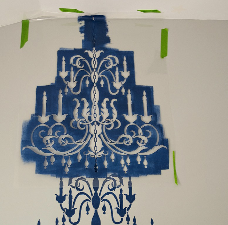 Chandelier stencil it all started with paint chandelier stencil how to 10 of 18 aloadofball Image collections