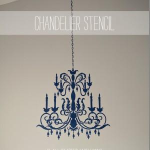 chandelier stencil