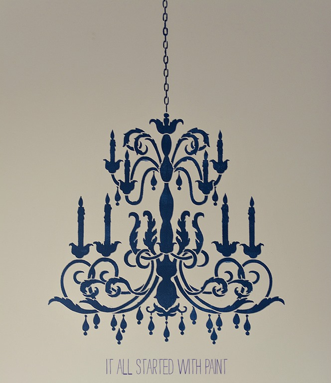 chandelier stencil project