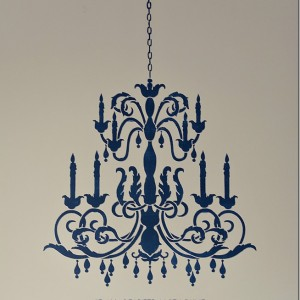 chandelier stencil for wall
