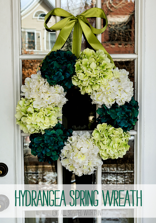 spring wreath for front doorHow To Make A Hydrangea Wreath