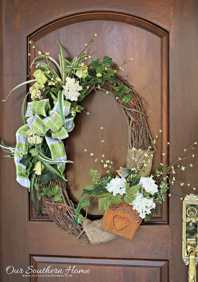front door wreath ideas for spring