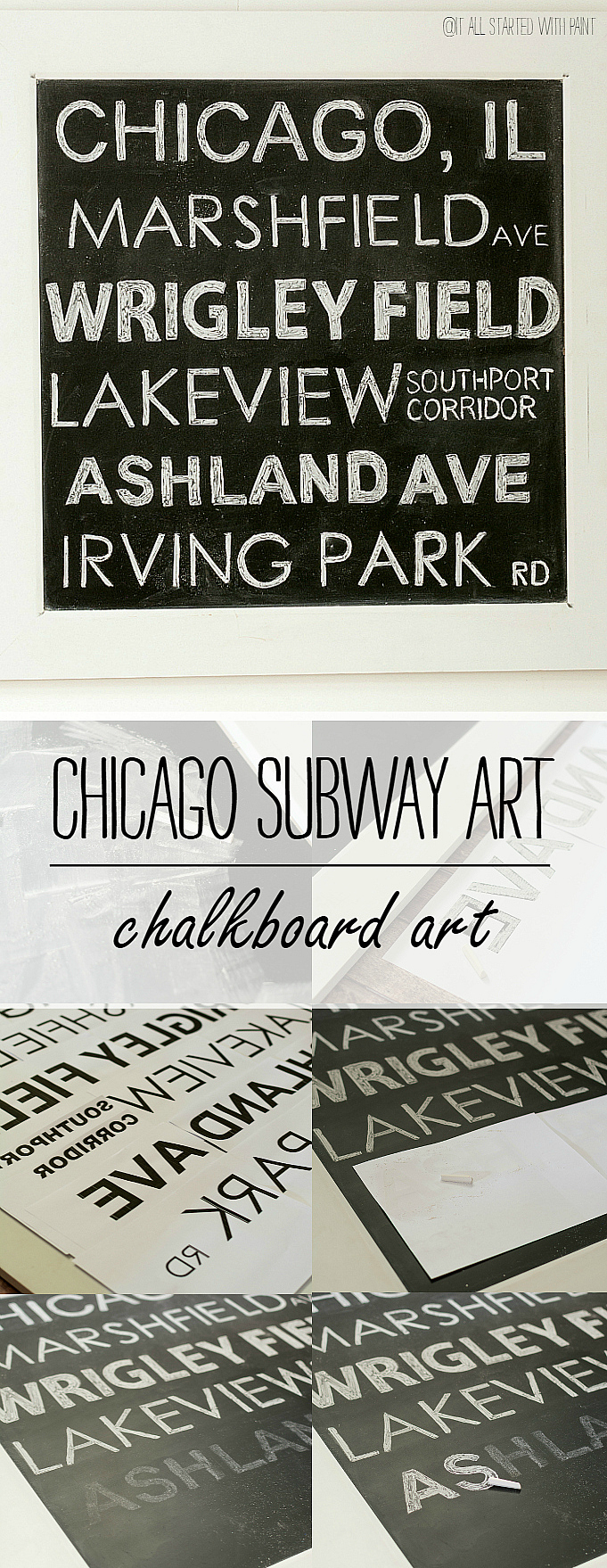Chicago Subway Art Chalkboard Art