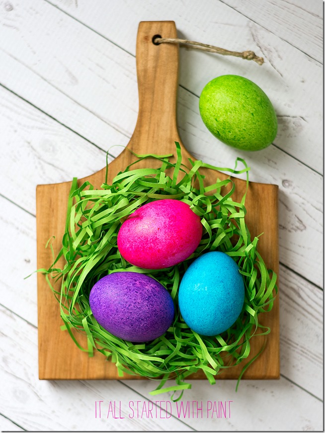 dye Easter eggs with food coloring and rice