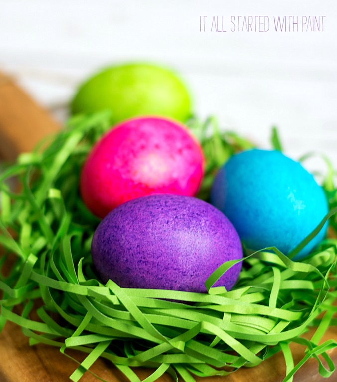 Dye Easter Eggs With Rice & Food Coloring - It All Started ...