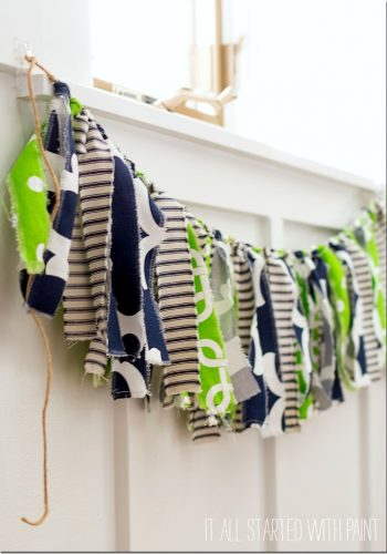 how to make a fabric banner using scraps