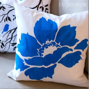 paint a pillow design