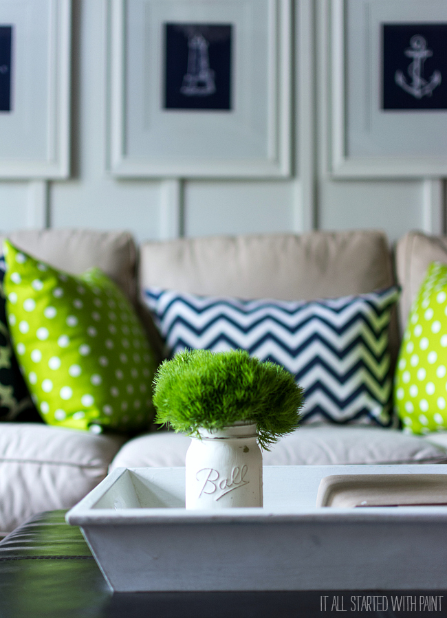 Navy & Green Decor
