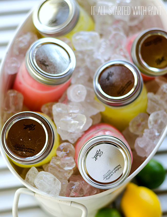 mason jar mixed drink mixers