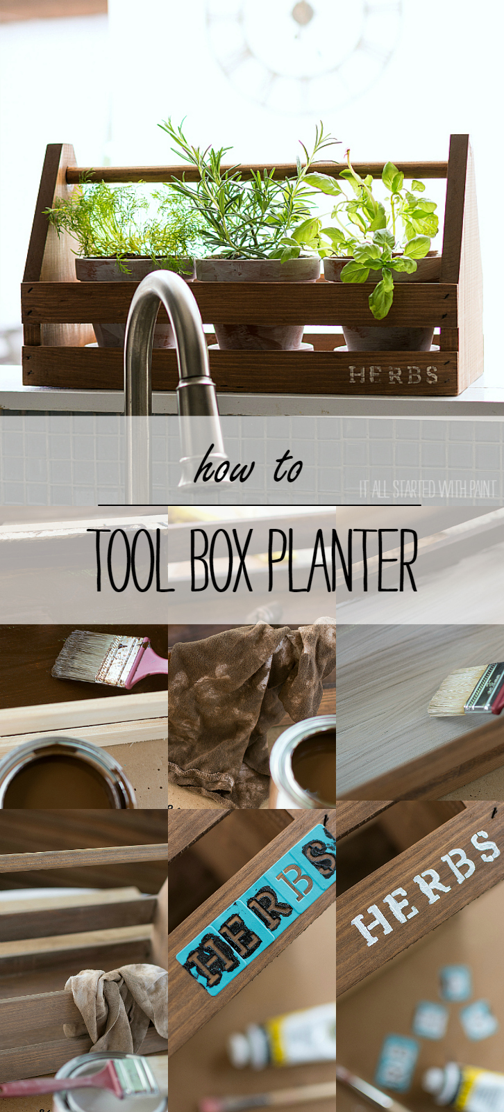 Rustic Tool Box Planter: How To Age A New Pallet Box