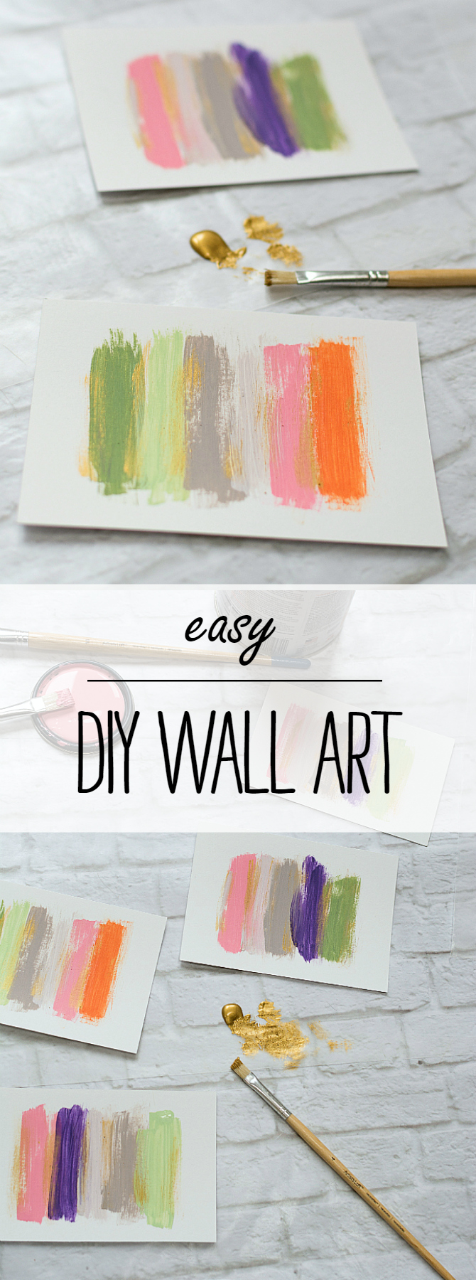 How To Make Easy DIY Wall Art with Paint