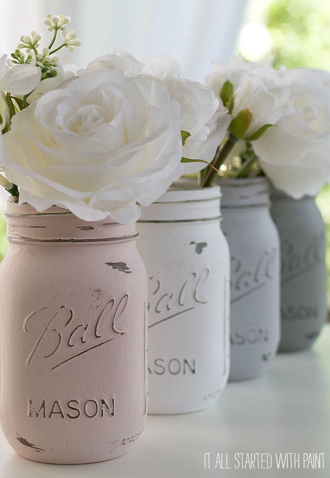 how-to-paint-distress-mason-jars