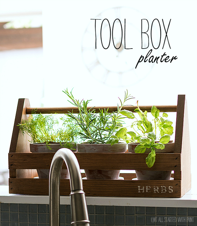 Tool Box Turned Planter