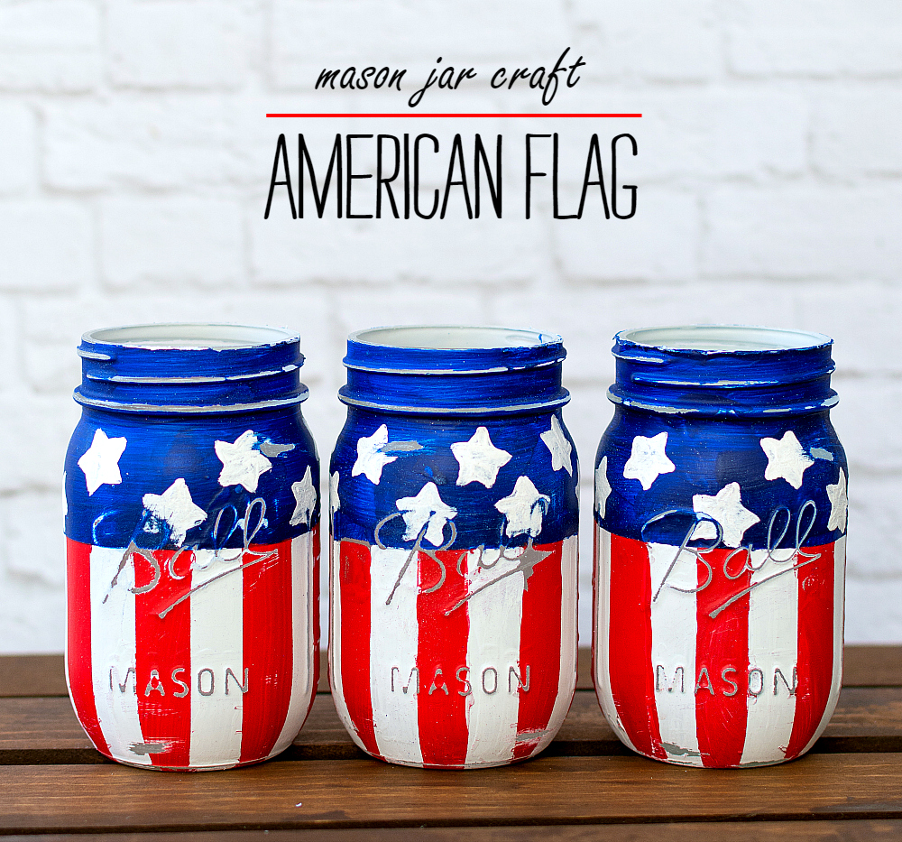 Crafts With Mason Jars Red White Blue Mason Jars