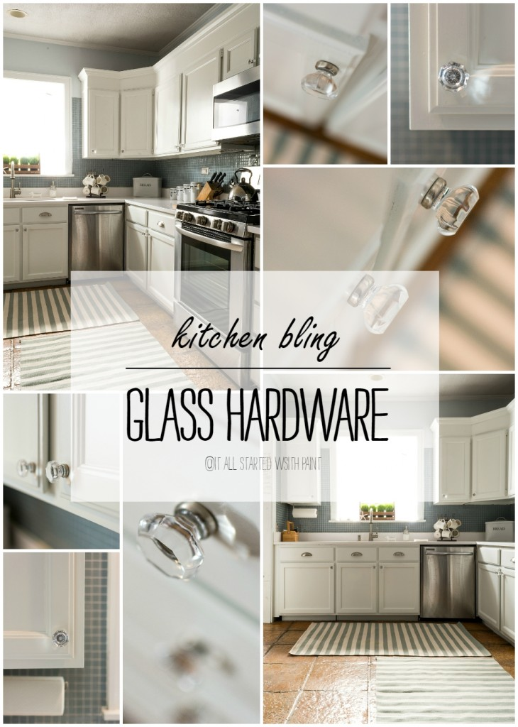 Kitchen Hardware Ideas: Glass Knobs