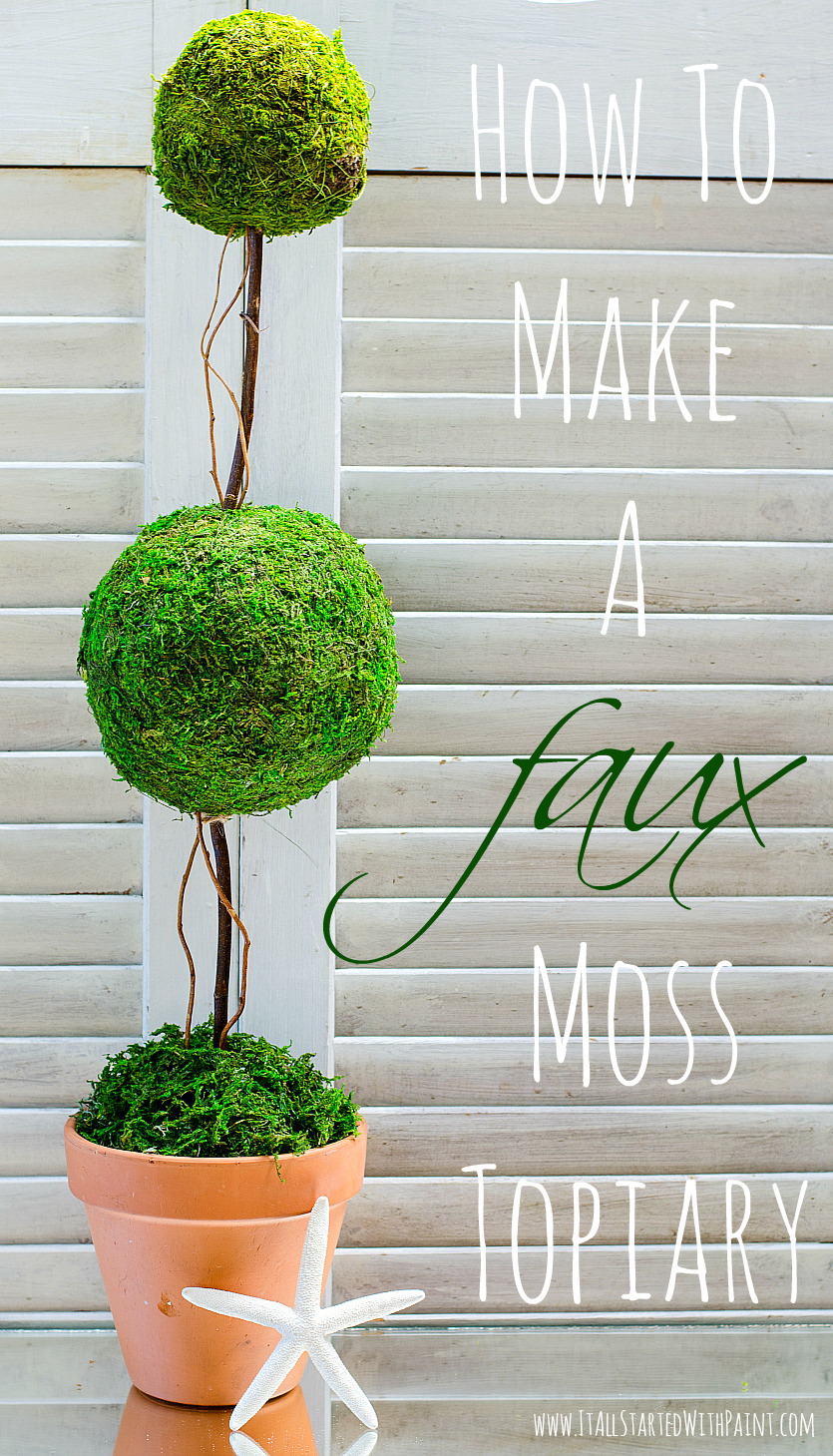 Moss Topiary DIY tutorial