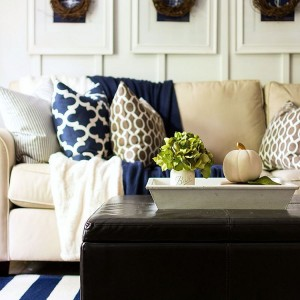 Sharing some early navy amp brown fall decor on thehellip