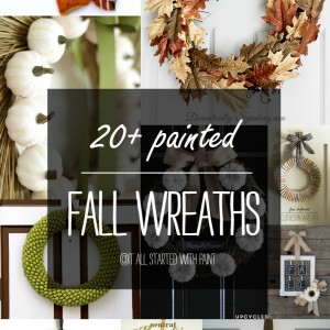 Fall Wreath Ideas with Paint