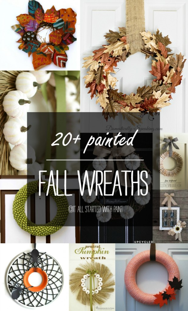 Painted Fall Wreaths
