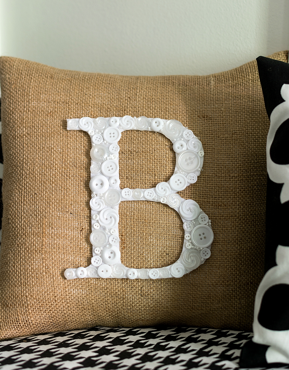 How To Make Button Monogram Pillow