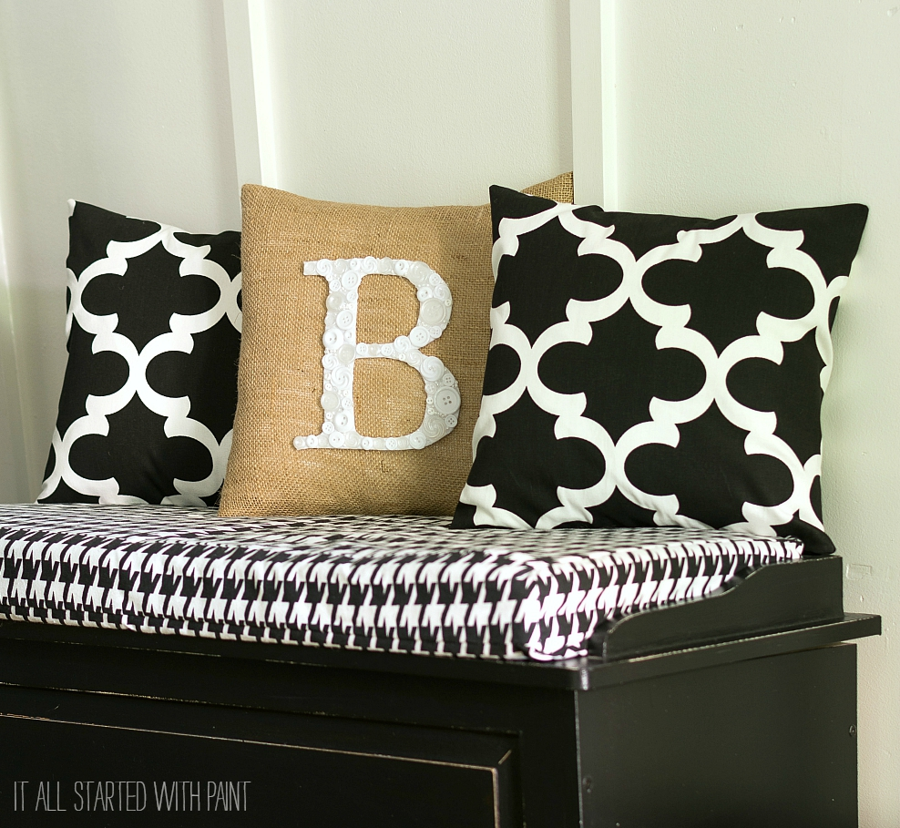How To Make A Button Monogram Pillow