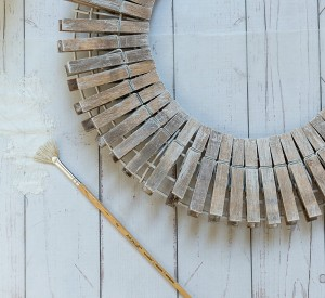 Clothespin Wreath How To