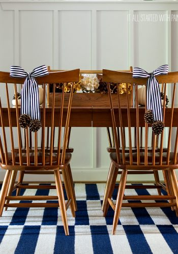 Navy & Brown Dining Room Decor for Fall