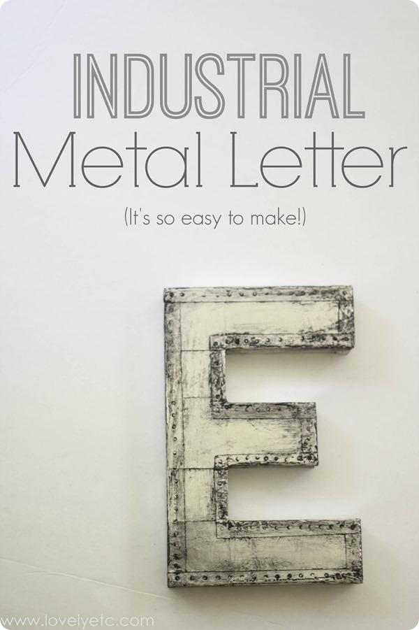 Metal Letter DIY