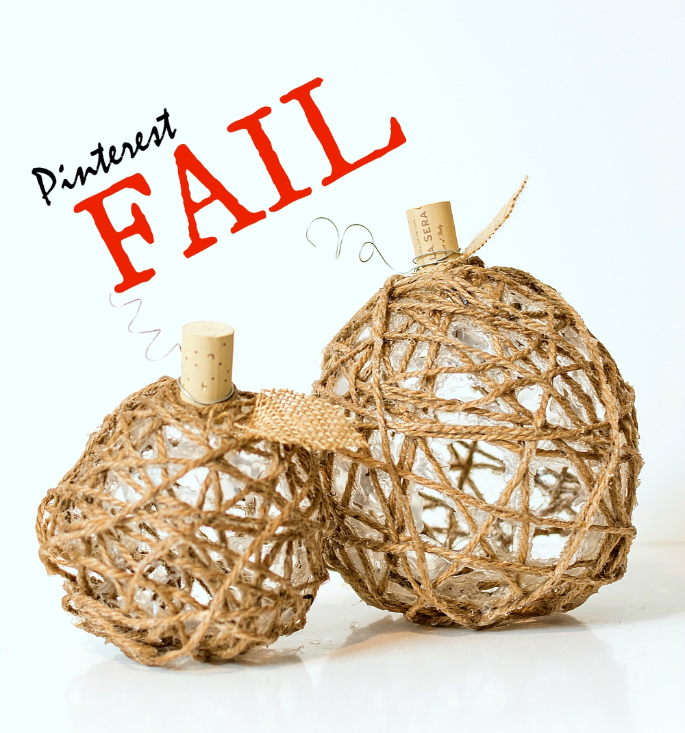 Pinterest Fail: Jute Pumpkins