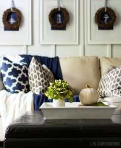 Fall Decor Ideas Using Navy & Brown