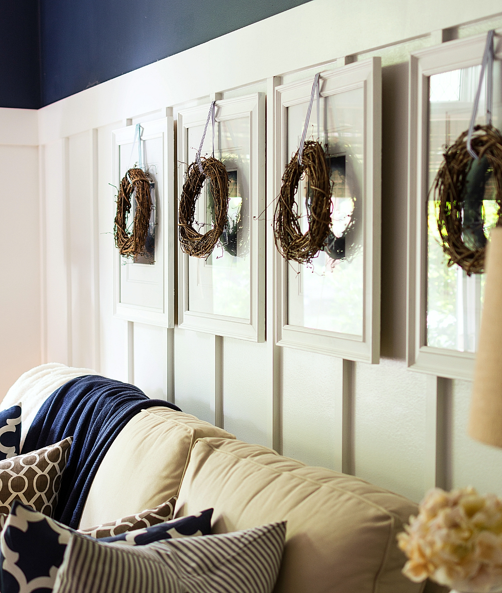 Fall Decorating Ideas: Update Artwork with Wreaths and Ribbons