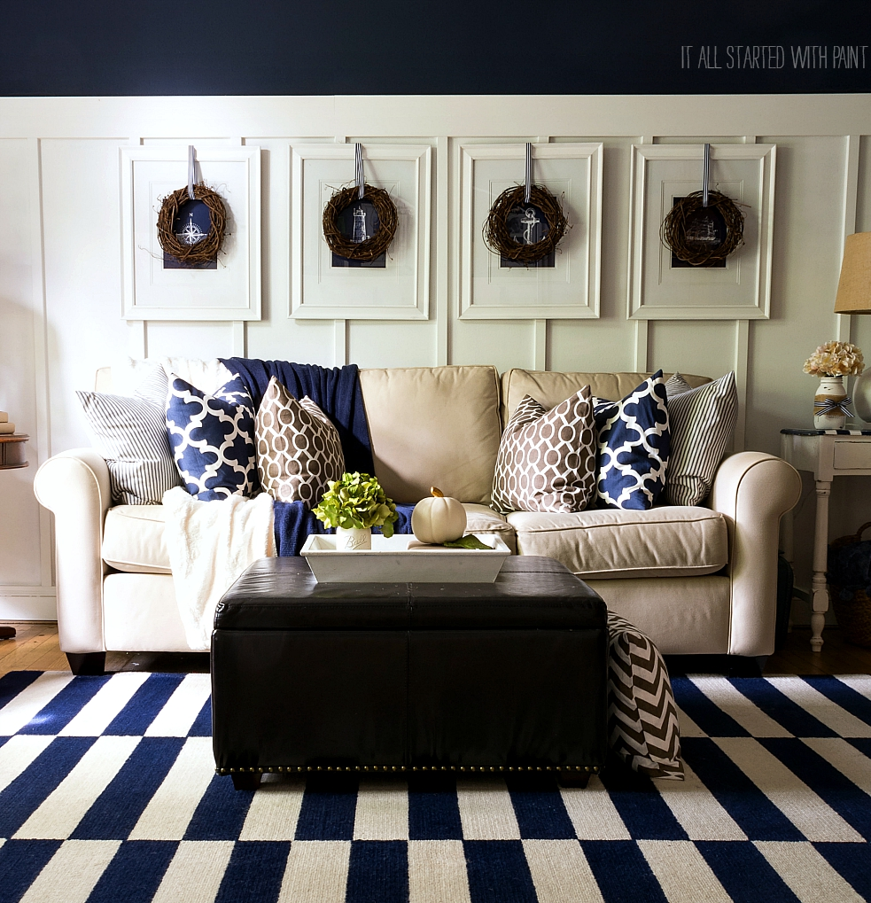 Navy Blue And Brown Living Room Ideas Modern House