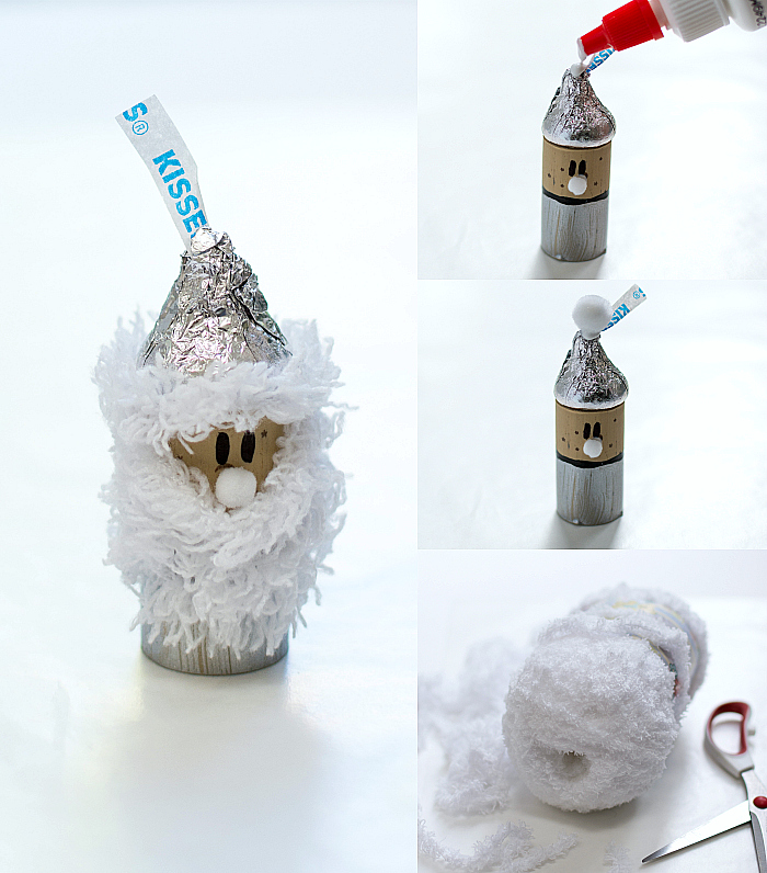Christmas-Holiday-Craft-for-Kids Hershey Kisses Wine Cork Father Time